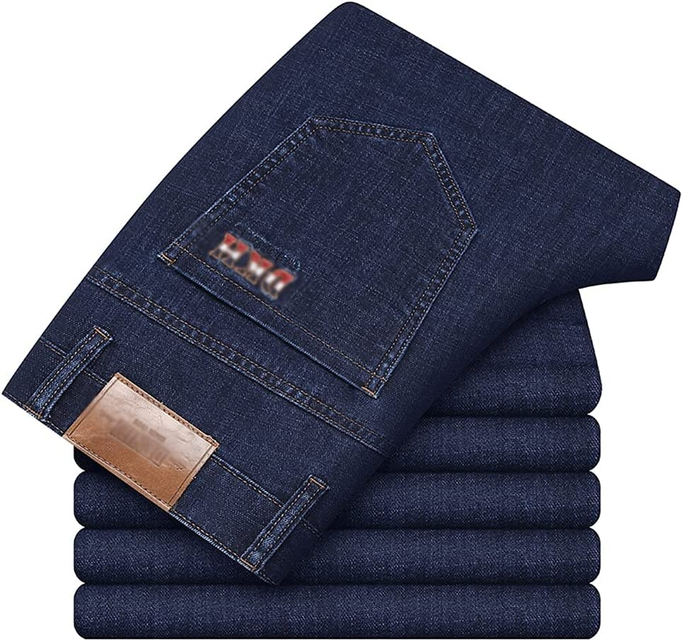 WPYYI Surprise Some reservation price Classic Embroidered Men's Fitted Straight Cot Spring Jeans