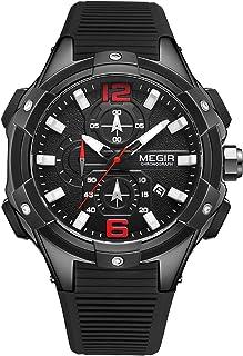 Andoer Men Quartz Watch Exquisite Male Wristwatch Time Calendar Display Stopwatch Luminous Pointer 3ATM Water Resistant Sp...