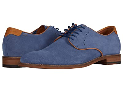 Johnston & Murphy Milliken Plain Toe (Denim Embossed Suede) Men