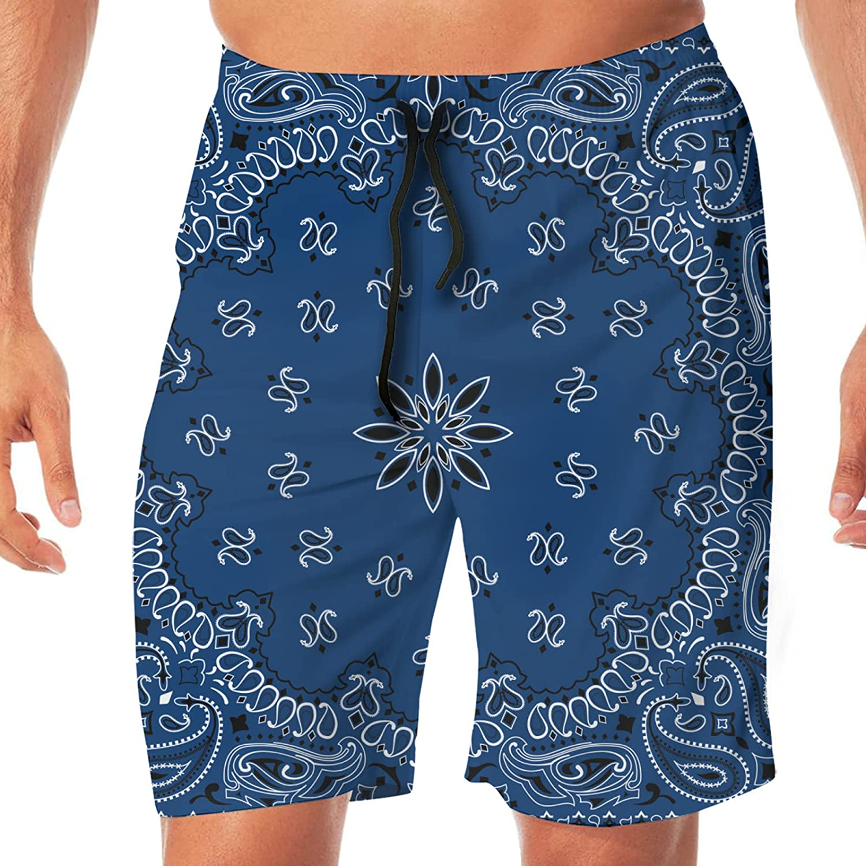 JTLCBC Mens Swim Shorts Summer Beach Board Shorts