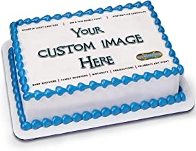 Custom Frosting Sheet for 1/4 Sheet Cake by Tasty Imaginations - Customized Cake Topper