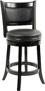 Boraam Augusta Counter Height Swivel Stool, 24-Inch, Black