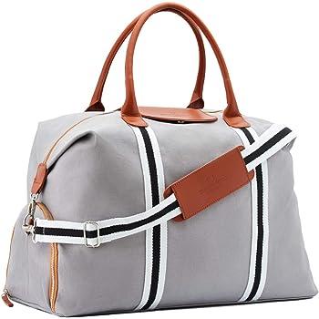 Saint Maniero ® Design Reisetasche mit extra Schuhfach – veränderbares Volumen von XL auf Handgepäck – wasserabweisendes Material – perfekte Ordnung durch Außen- und Innentaschen