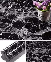 Yancorp Black Granite Wallpaper Marble Counter Top Film Vinyl Self Adhesive Peel-Stick Wallpaper (17.8