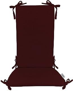 """Featured in HGTV Sunbrella Milano Cobalt 2/"""" Foam Seat w// Curved Back"""
