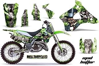 Kawasaki KX125 KX250 1994-1998 MX Dirt Bike Graphic Kit Sticker Decals KX 125 250 WITH Number Plates MAD HATTER SILVER GREEN