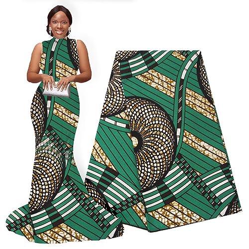 20ccd34a8d1 pqdaysun African Super Wax Print Fabric Ankara Fabric Wax Material 6 Yards  for Sewing Dress Clothing