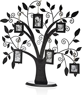 Philip Whitney Metal Family Tree With 6 Hanging Picture Photo Frames