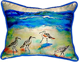 """Betsy Drake SN369 Betsy's Sandpipers Pillow, 11"""" x14"""""""