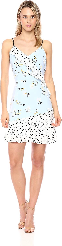 Cooper & Ella Womens Women's Daisy Mixed Print Isa Ruffle Dress Casual Night Out Dress