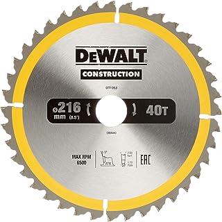 DeWalt Bau-cirkelsågblad för stationärsåg/cirkelsågblad (216/30 mm 40WZ, universell användning och tvärsnitt) DT1953