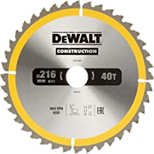 DeWalt DT1953 Bouwcirkelzaagblad voor stationaire zagen/cirkelzaagblad (216/30 mm 40 WZ, universeel gebruik en dwarsdoorsn...
