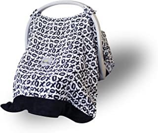 Itzy Ritzy Car Seat Canopy – Muslin Infant Car Seat Cover Fits All Car Seats, Includes Toy Loops and is Made of Lightweight, Breathable Muslin, XOXO