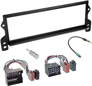 Sound-way Kit Montaggio Autoradio, Mascherina 1 DIN, Adattatore Connettore ISO, Adattatore Antenna, Adattatore Antenna Fak...