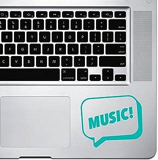 ملصق فقاعات من StickAny Palm Series Music Speech لأجهزة MacBook Pro وChromebook وأجهزة الكمبيوتر المحمول (تركواز)