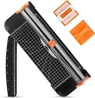 Massicot A4,POWERAXIS Coupe Papier Massicot Rogneuse avec Sécurité Système Remplaçable Lame Couper pour Couper du Papier,P...