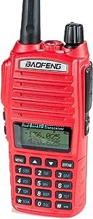 BaoFeng UV-82HP (RED) High Power Dual Band Radio: 136-174mhz (VHF) 400-520mhz (UHF) Amateur (Ham) Portable Two-Way