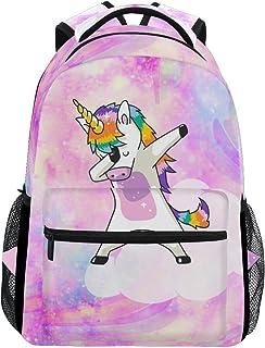 Unicorn Magic With Stars School Backpack 1th 2th 3th Grade for Boys Teen Girls Kids