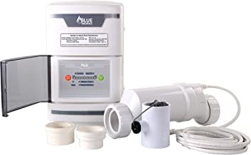 BLUE WORKS Salt Chlorine Generator Chlorinator BLSW10 with Flow Switch and Salt Cell for Above-Ground Pool (White)