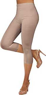 Gilbin Ultra Soft Capri High Waist Leggings for Women-Many Colors -One Size & Plus Size