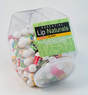 Lip Naturals Lip Balm Assortment - (1) Unit of 100 Pieces - Assorted Flavors - for Kids, Boys and Girls, Party Favors, Piñata Stuffers, Children's Gift Bags, Carnival Prizes, Dental Bags