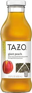 Tazo Iced Tea, Giant Peach, 13.8 Ounce Glass Bottles, 8 Pack