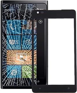 قطع غيار لإصلاح الهاتف الخلوي للشاشة الأمامية والعدسة الزجاجية الخارجية متوافقة مع نوكيا لوميا 900