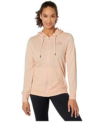 The North Face Lightweight Tri-Blend Full Zip Hoodie (Impatiens Pink Heather) Women