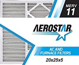 Aerostar 20x25x5 MERV 11 Honeywell Replacement Pleated Air Filter, Made in the USA 20