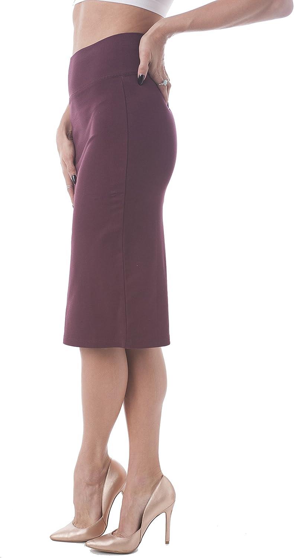Hollywood Star Fashion High Waisted Long Pencil Skirt