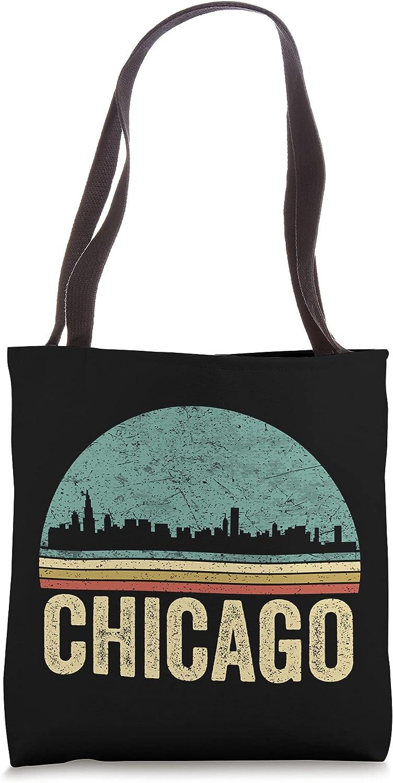 Vintage Retro Chicago Souvenir Skyline Chicago Tote Bag