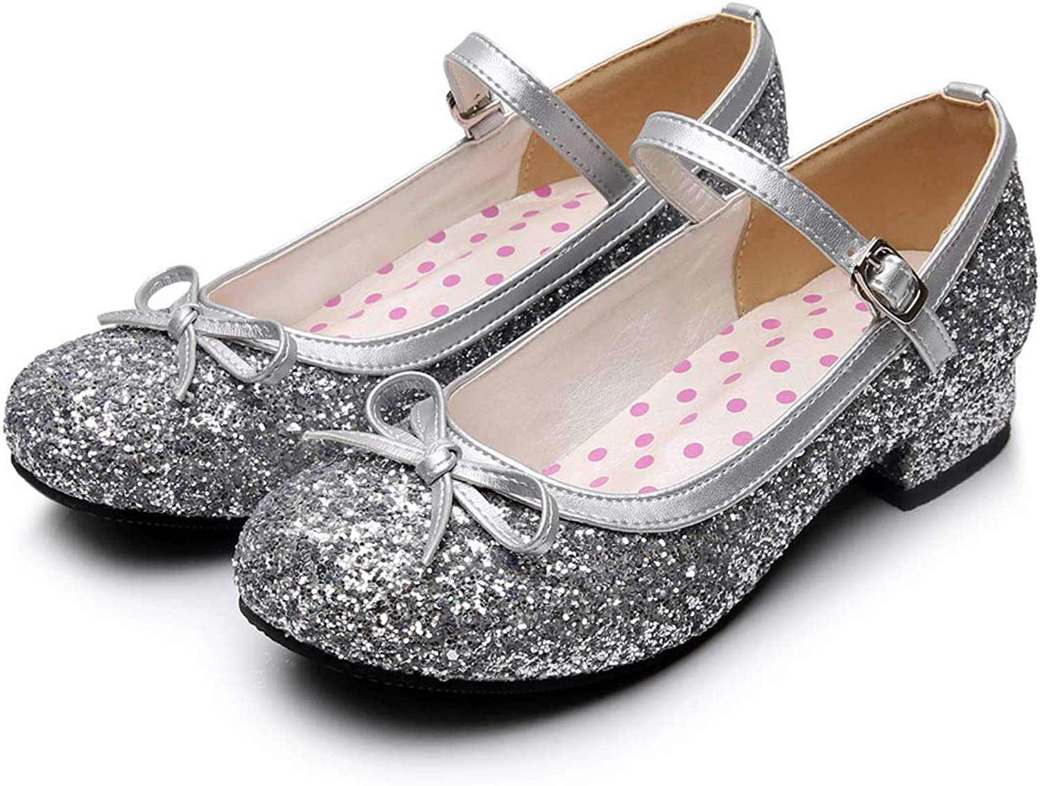 Japanese Sweet Lolita shoes Round Toe Low Heel Shiny gold Silver Mary Jane Party shoes