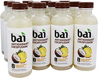 Bai Cocofusions Puna Coconut Pineapple, Antioxidant Infused Beverage, 18 Ounce (Pack of 12)