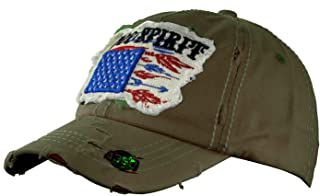 NYFASHION101 Women's Distressed Unconstructed Embroidered Baseball Cap Dad Hat, Spirit, Olive