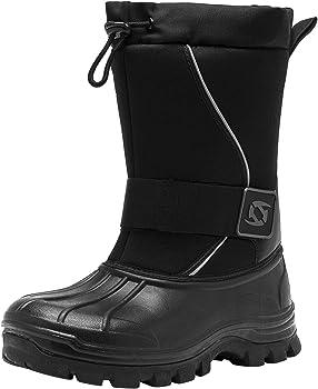 Leisfit Mens Outdoor Winter Waterproof Boots