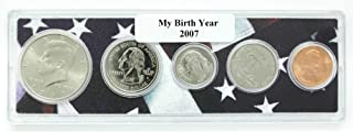 2007-5 Coin Birth Year Set in American Flag Holder Uncirculated