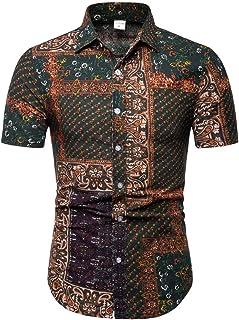 メンズ 半袖 アロハシャツ Hanaturu(ハナツル) おしゃれ ビーチシャツ 通気速乾 夏 オシャレ ビーチウェディング ファンション プリントシャツ ハワイ風 メンズアロハシャツ