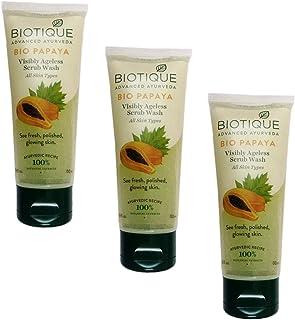Biotique 3 Bio Papaya Visibly Ageless Scrub Wash (100 ml)