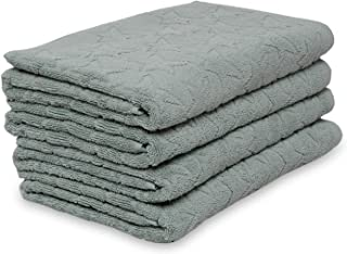SoftWeave Stars Cotton Absorbent Prewashed Bath Towels, 30 x 60 inch, Set of 4 Premium Quality Bath Towels, Highly Absorbent, Attractive Pattern, Oeko-Tex Certified, Easy on Skin, Smooth & Soft Feel