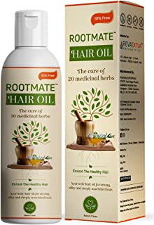 Rootmate hair oil for hair fall control and regrowth with Bhringraj .Hair fall treatment for men & women .No paraben & Min...