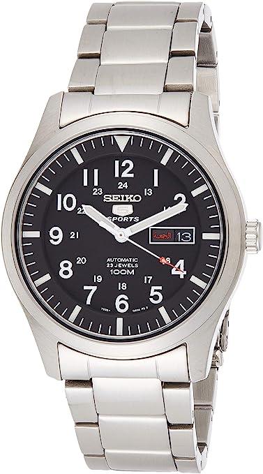 TALLA M. Seiko 5 Relojes de Acero Inoxidable para Hombre con Correa de Metal.