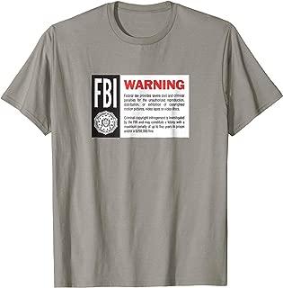 VHS FBI Warning Screen Retro Video Still Design