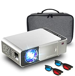 Mini Projector,3000 Lumens LED Portable Full HD Multimedia Home Theater Video Projector 1080P Support for Home Cinema,Movi...