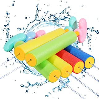 Auney Water Toy for Kids, 6-Pack Water Blaster Set Water...