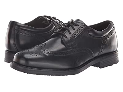 Rockport Essential Details Waterproof Wing Tip (Black) Men