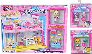 Shopkins Happy Places Happy Home Bundle with Bonus Lil' Shoppie Dolls 2-Pack (Melodine and Spaghetti Sue)