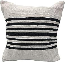 """LR Home Bold Striped Throw Pillow, 22"""" x 22"""", White/Black"""