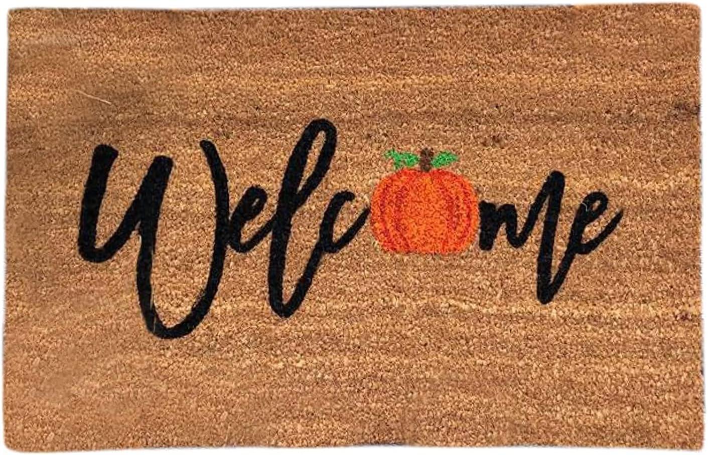 Halloween Doormat Blanket Welcome Home Front Door Decorations Halloween Decor Door Mat Anti-Slip Bottom Indoor Outdoor Carpet (B-1PCS)