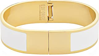 Stainless Steel Women's Gold Plated   H Shaped Buckle Bracelet   Bangle Colored Enameled Colored Stackable, 64mm Diameter (2.6in)
