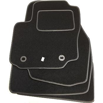 kh Teile Kofferraummatte Velours-Matte Premium Qualit/ät Stoffmatte schwarz mit Nubukleder Doppelnaht im M-Edition